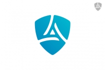 Letter A Shield Logo