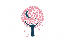 Moon Fall Tree Logo