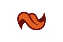 Letter N Tongue Logo