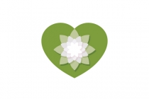 Water Lily Heart Logo