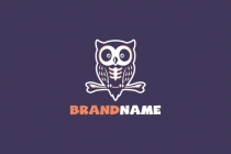 Skeleton Owl Logo