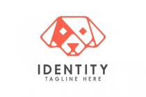 Geometric Dog Logo