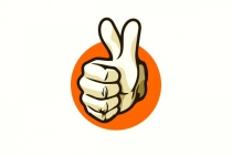 Double Thumbs Up Logo