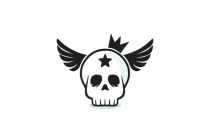 Winged Skull With...