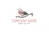 Watercolor Bird Logo
