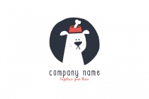 Cute Dog Food Logo
