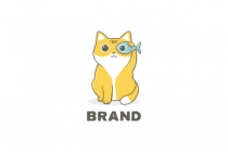 Cute Cat Mascot Logo