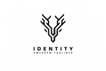 Deer Geometric Logo