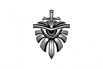 Sword Shield Eye Logo
