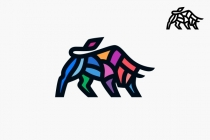 Colorful Bull Logo