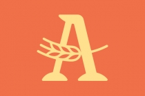 Letter A Wheat Logo