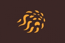 Lion Fireball Logo