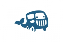 Whale And Car Logo