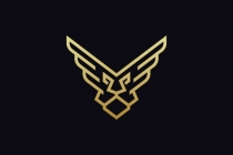 Winged Lion Head Logo