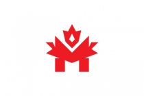 Maple Leaf Letter M...