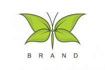 Nature Butterfly Logo