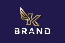 Letter K Winged Logo