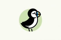 Puffin Bird Logo