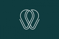 W Tooth Dental Logo