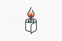 Paper Candle Logo