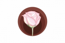Watercolor Rose Logo