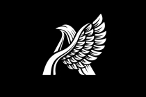 Winged Letter A Logo