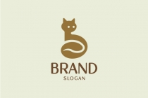 Coffee Bean Cat Logo