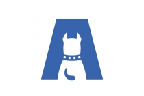 Letter A Puppy Logo