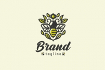 Geometric Bee Logo