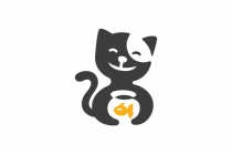 Cat And Fish Logo