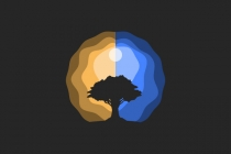 Day Night Tree Logo