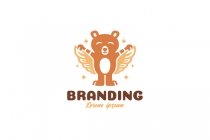 Happy Teddy Bear Logo