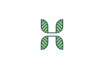Letter H With Leaves...
