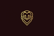 Golden Lion Head Logo