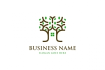 Home Tree Nature Logo