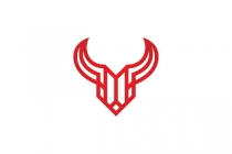 Linear Bull Head Logo
