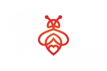 Heart Bee Logo