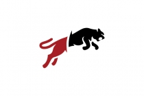 Leaping Wild Cat Logo