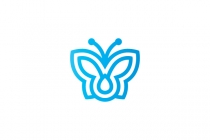Drop Butterfly Logo