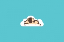 Dog Sleep In Cloud...