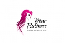 Long Hair Beauty Logo