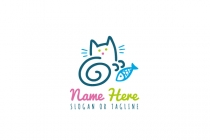 Cat With Fish Logo