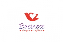 Free Heart Bird Logo