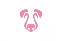 Dog And Flamingo Logo