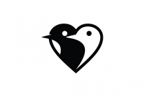 Bird Love Heart Logo