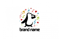 Penguin Singing Logo