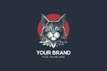 Maine Coon Cat Logo