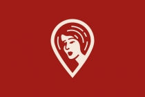 Woman Map Marker Logo