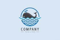 Whale In The Sea Logo