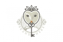 Queen Owl Key Logo